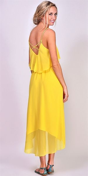 Dolce Vita - Skyler High Low Dress - Bright Yellow