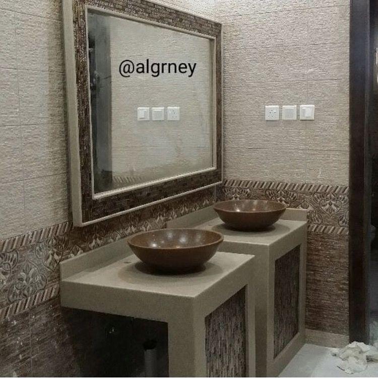 نتيجة بحث الصور عن جدران مغاسل Bathroom Mirror Framed Bathroom Mirror Mirror