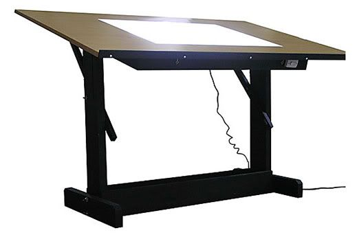 Source · Lighted Drafting Table Table Idea