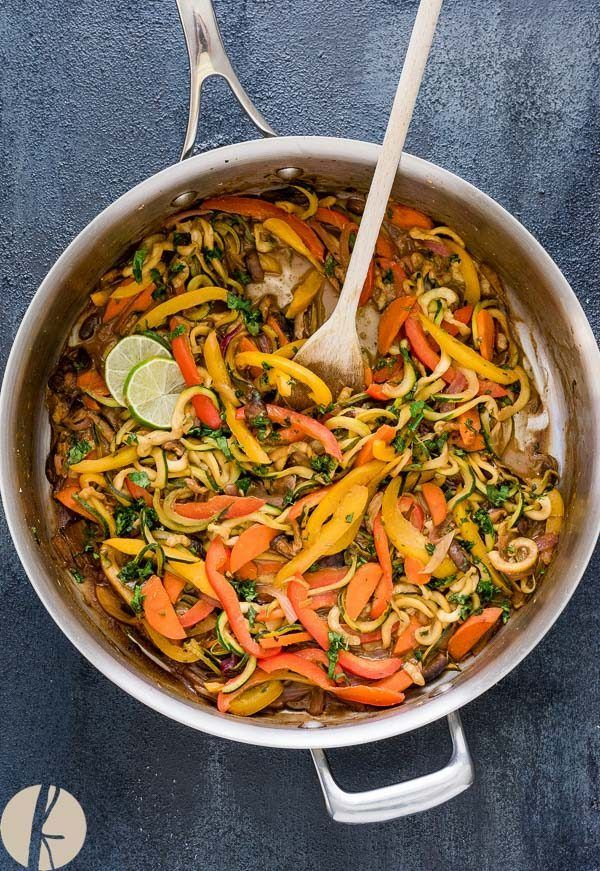 Vegan Thai Peanut Zucchini Noodles Is An Easy Low Carb Meal