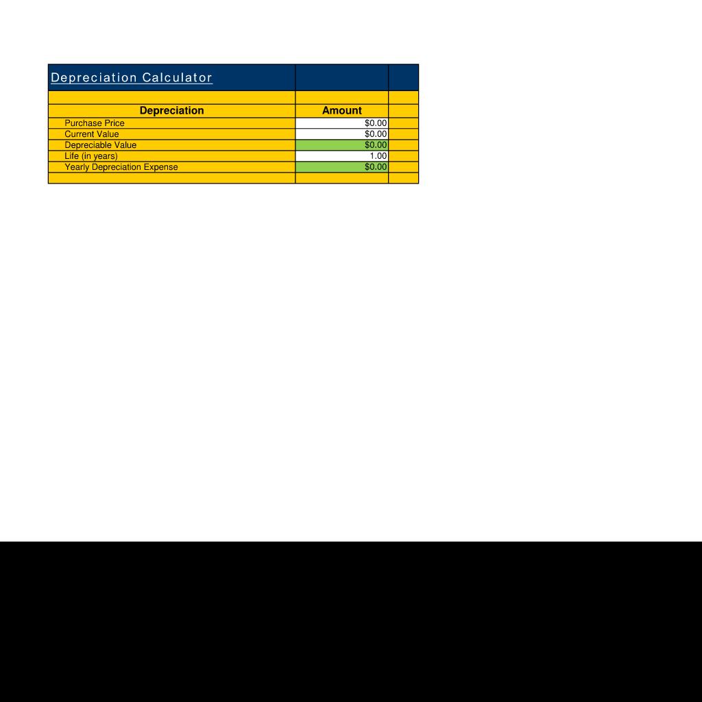 depreciation calculator use the depreciation calculator