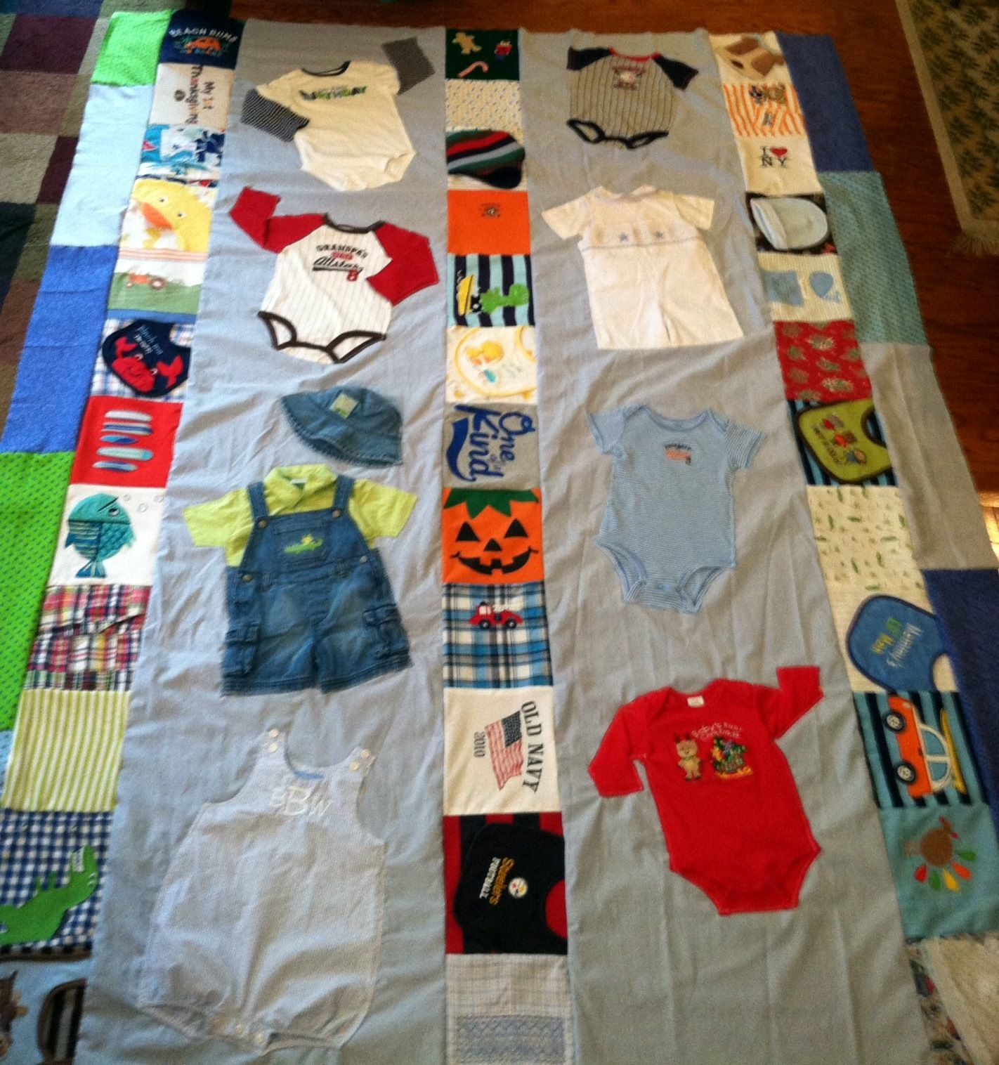 Baby Clothes Quilt (almost complete!) | Things I've Made ... : quilt from baby clothes - Adamdwight.com