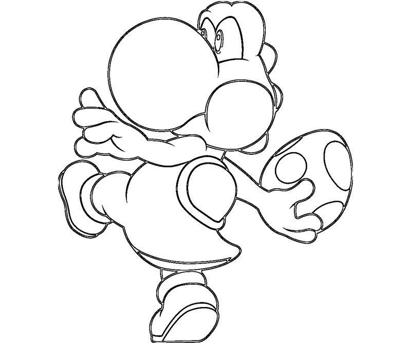 Yoshi Coloring Pages Mario Luigi Yoshi Coloring Pages Coloring