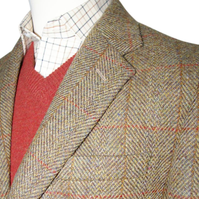 harris tweed sport coat with colored collar - Google Search | HIS ...