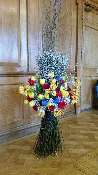 Colourful  fresh flower wedding stook