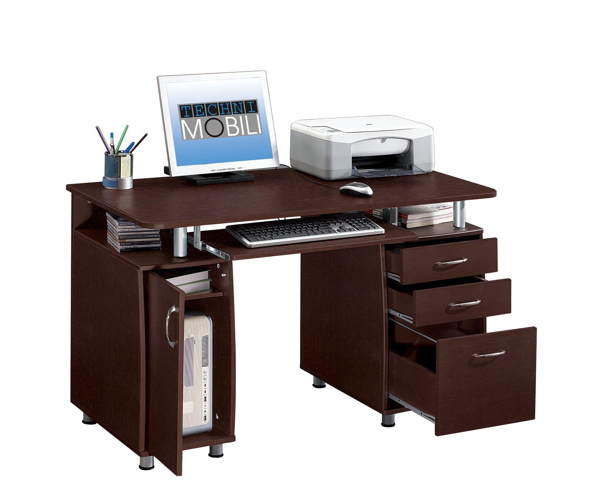 Techni Mobili Complete Computer Desk Small Computer Desk Modern Home Office Desk Computer Desk