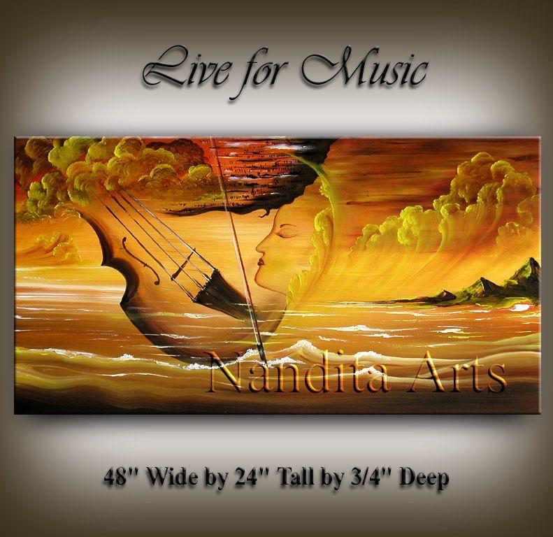 Art of music Violin Painting by Nandita Arts | Music Art, Music ...