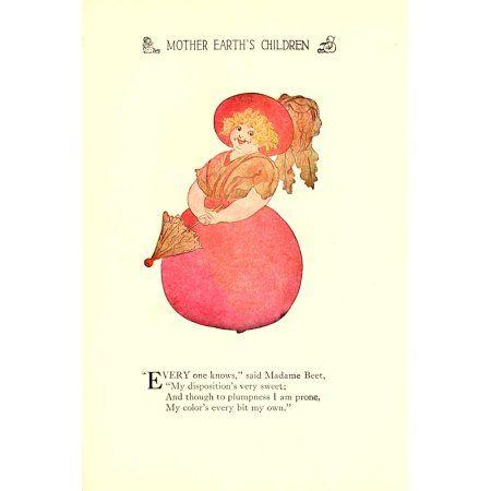 Mother Earths Children 1914 Madame Beet Canvas Art - MT Ross (18 x 24)