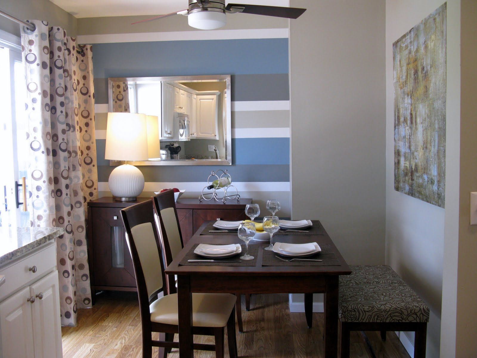 dining tables against wall