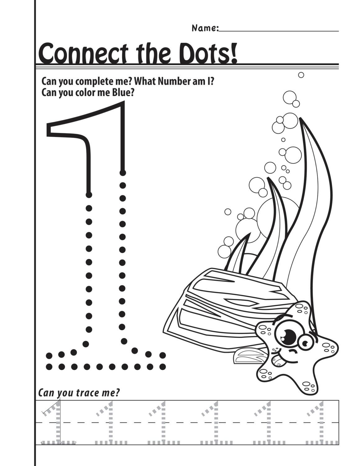 Number 1 Worksheets 11 Pages by designsbylizperkins on