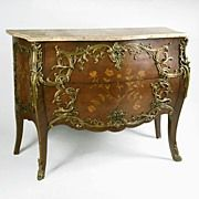 Late 19th Century Louis XV Kingwood Commode with Bronze Mounts
