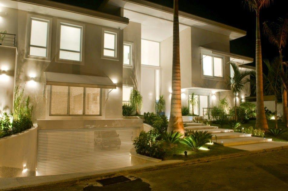 Fachadas de casas modernas com paisagismo e ilumina o for Ideas de casas modernas
