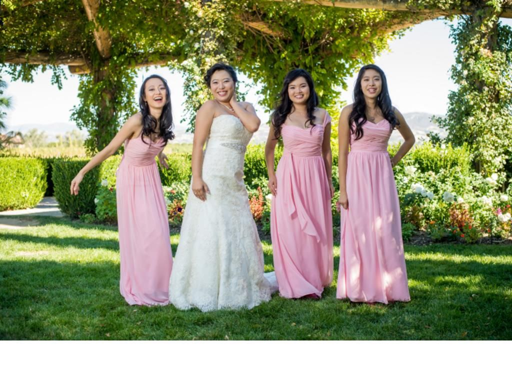 Bridesmaids dressed in action alfred angelo style 7053 in color alfred angelo 7236 size 0 bridesmaid dresses ombrellifo Image collections