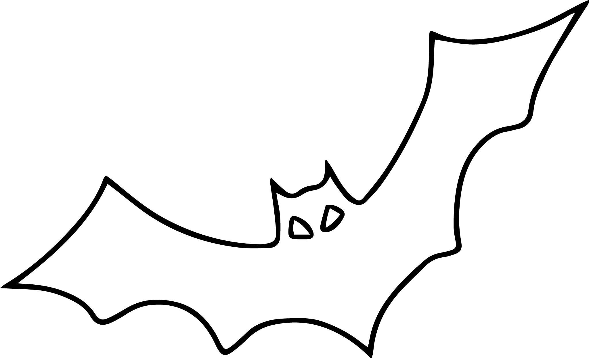 Bat Pattern Halloween Coloring Page Three Sizes Template