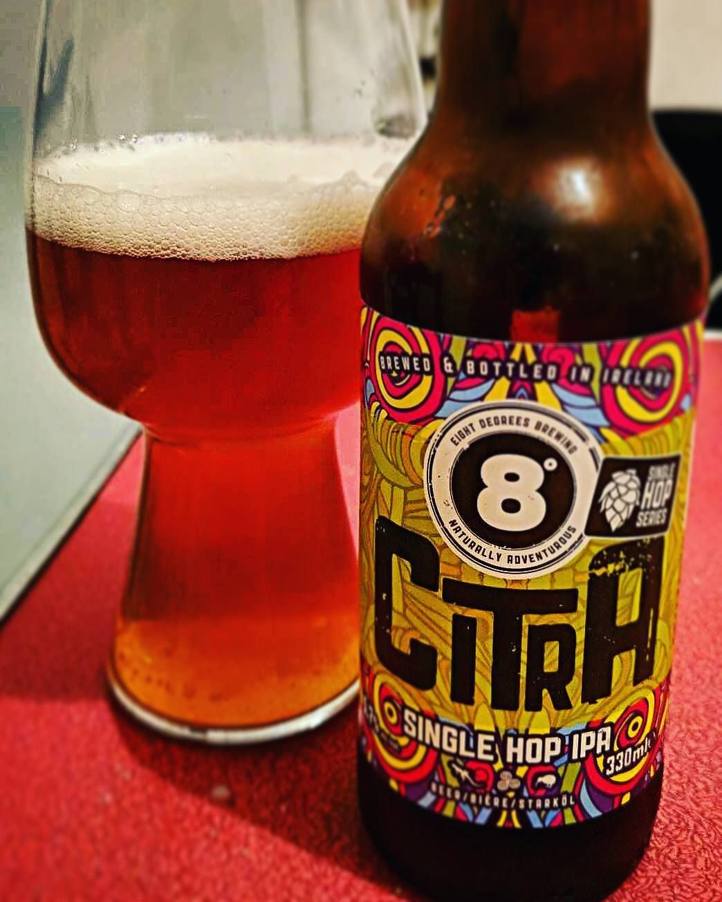 Eightdegreesbrewing Citra Single Hop Ipa Lovely Clean And Crisp With A Nice Orangey Taste Eightdegrees Citra Singlehopipa Beer Pictures Irish Beer Beer Art