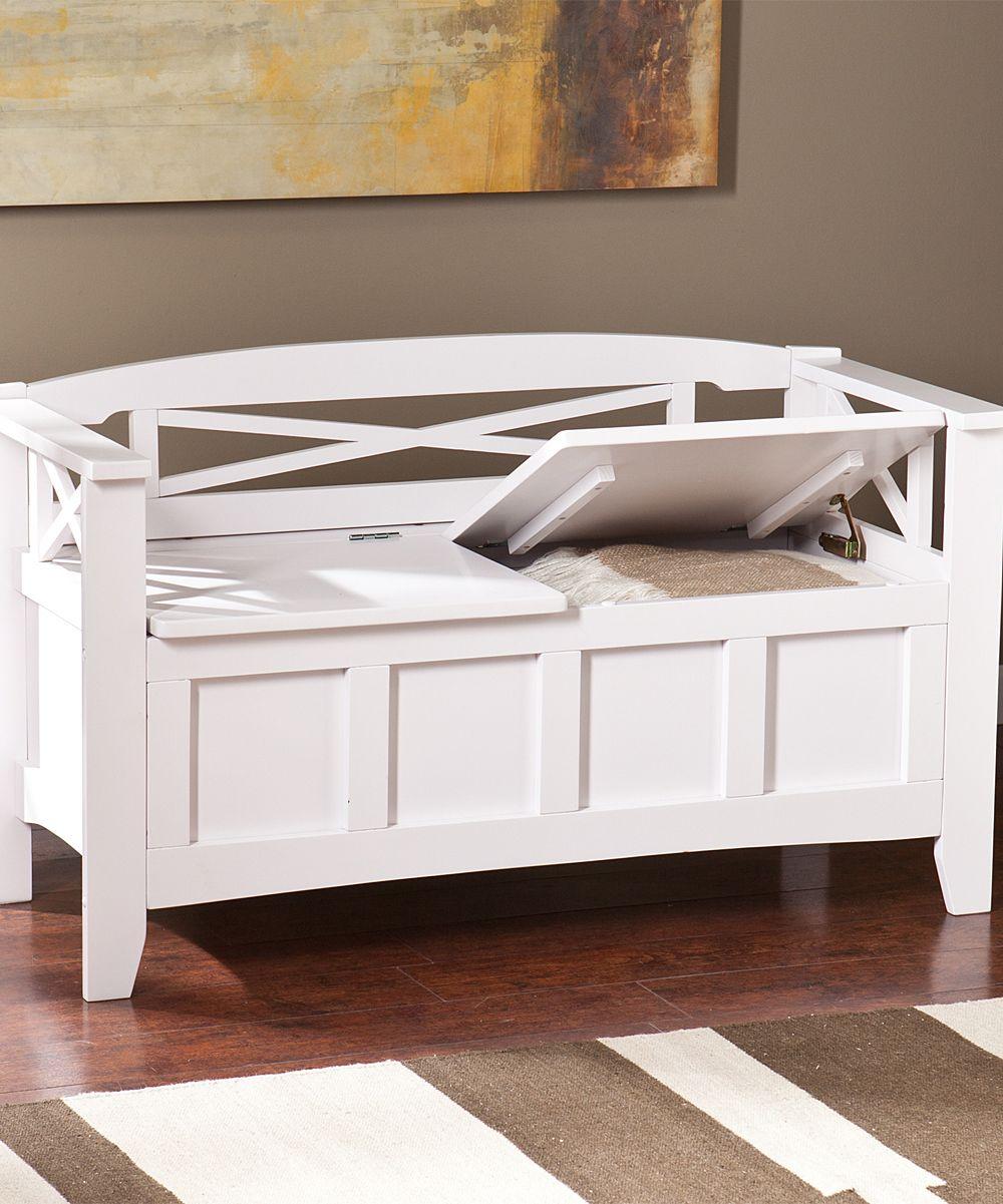 White Cutler Storage Bench Products White Storage