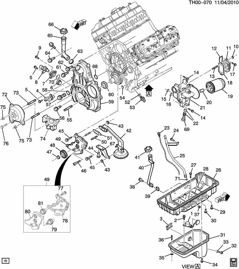 ENGINE ASM66L V8 DIESEL FRONT COVER,OIL PUMP,PAN