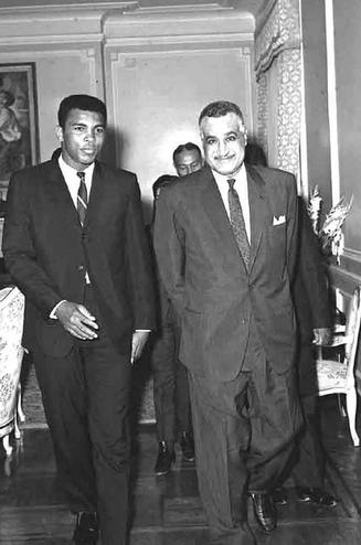 الزعيم جمال عبد الناصر مع بطل الملاكمة العالمي محمد علي كلاي Mohamed Ali Clay Egypt History Egypt
