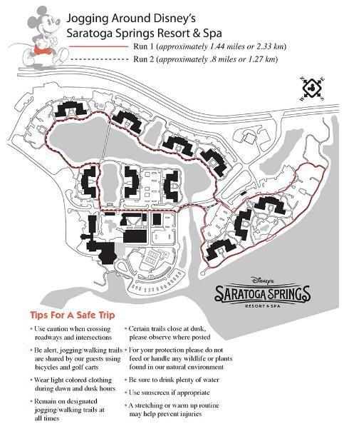 Where To Run At Walt Disney World Saratoga Springs Disney Saratoga Springs Resort