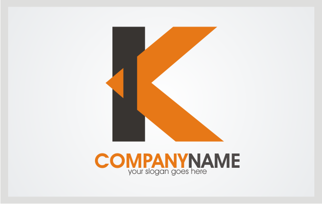 Letter K Logo Template Style 2 Is Suitable For Website