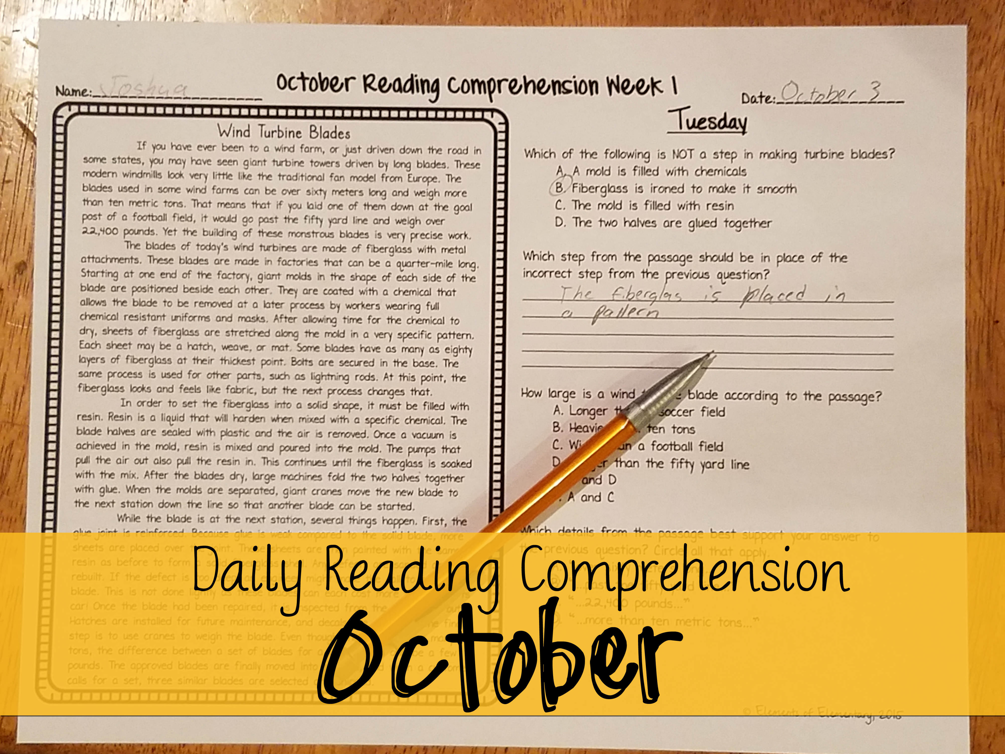Daily Reading Comprehension Passages These Week Long Activities Consist Of 3 Non Fiction And 1 Fiction Text Reading Comprehension Daily Reading Comprehension [ 3024 x 4032 Pixel ]