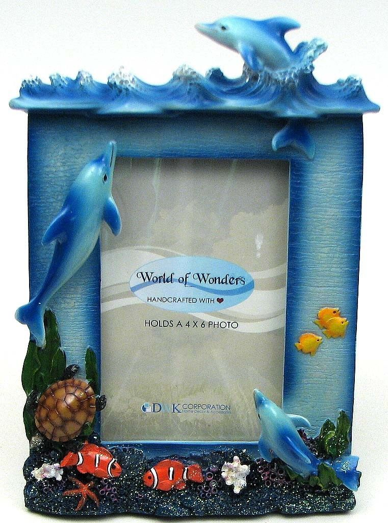 Dolphin Picture Frame Sea Spree 4x6 World Of Wonders FREE STANDARD ...