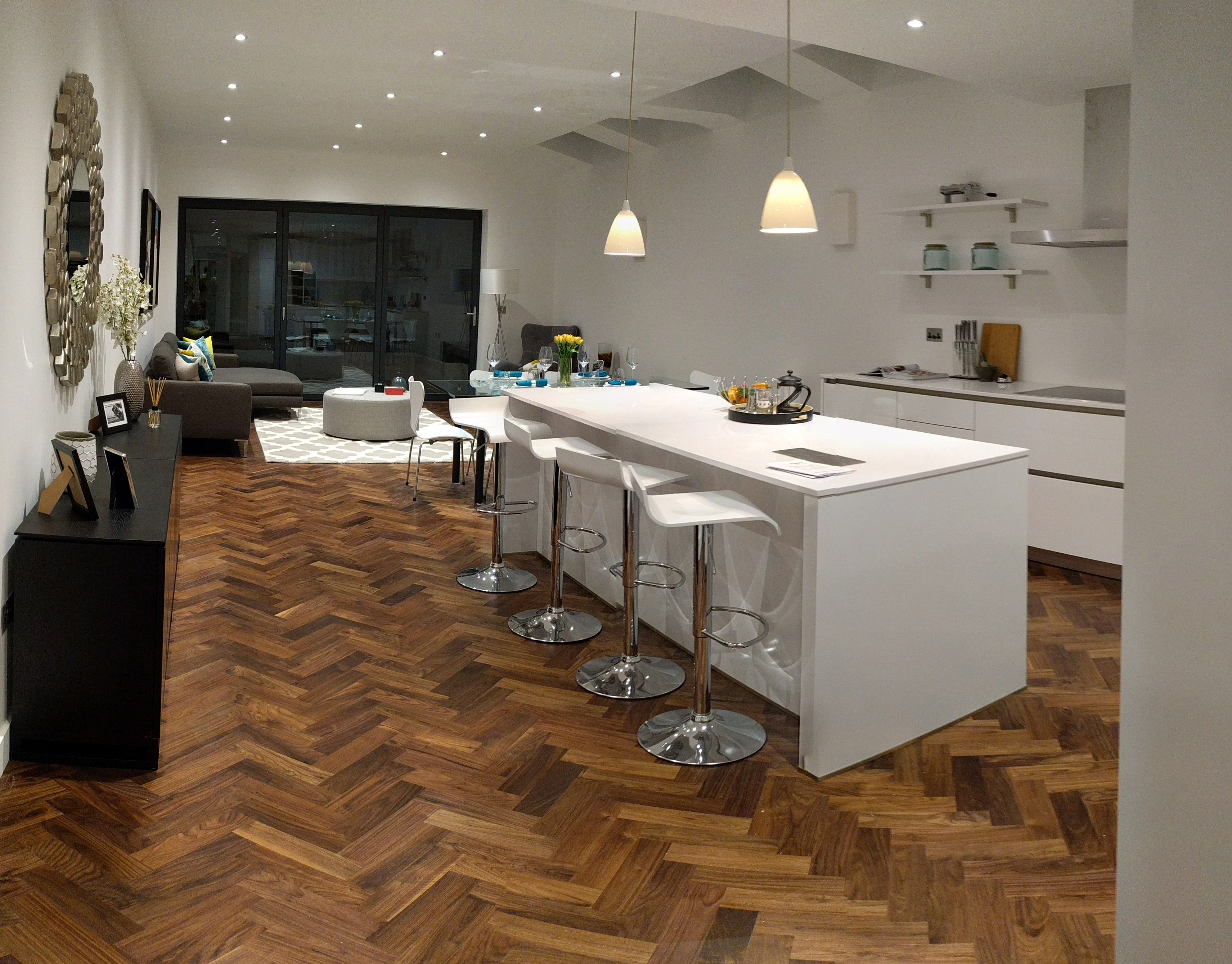 Walnut Parquet From The Natural Wood Floor Company Beautifully Fitted By  Finwood