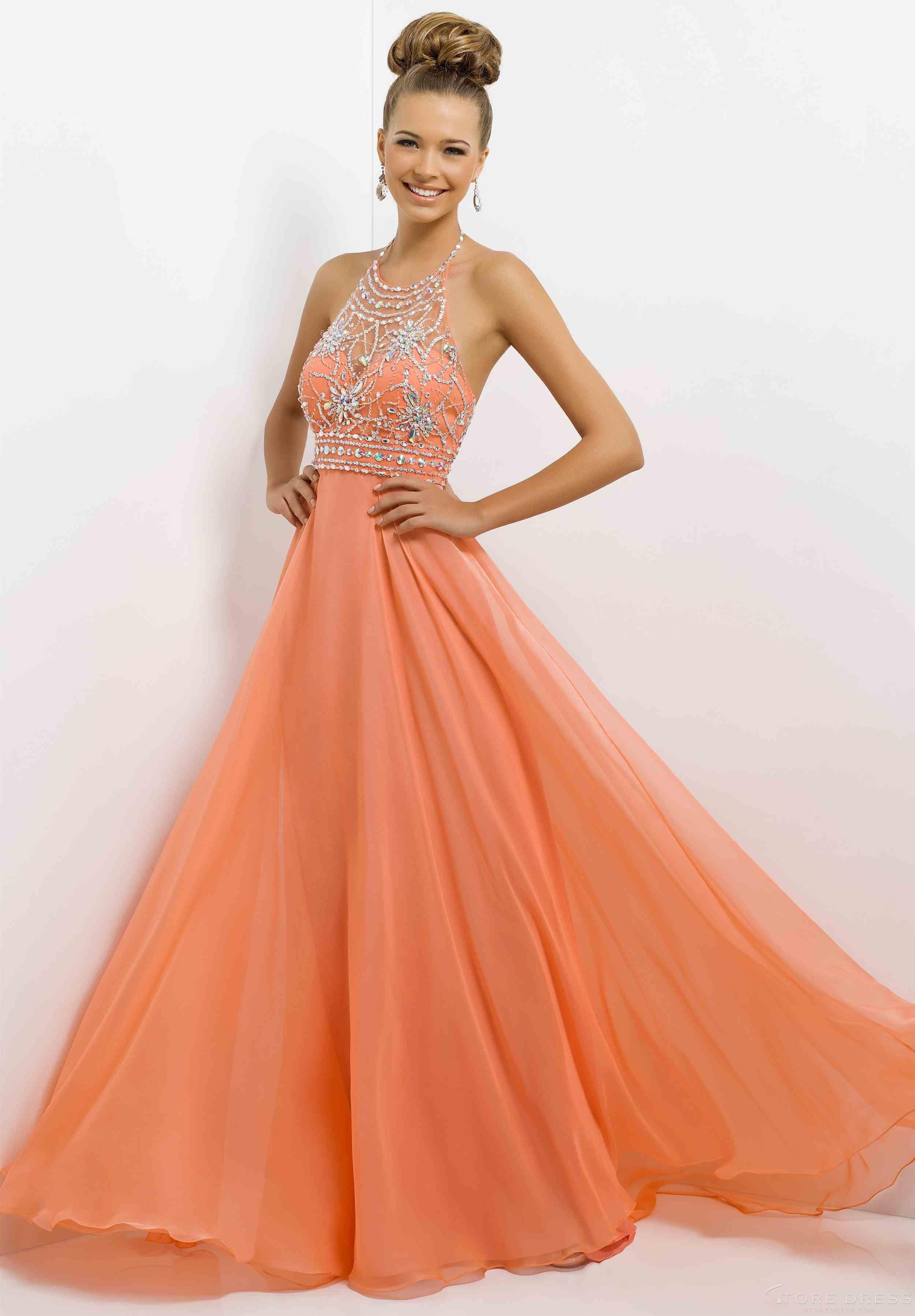 I like the peachorange color dresses they just look so beautiful i