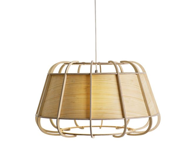 Wood and Bamboo Light Fixtures