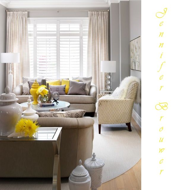 Brown grey yellow living room design ideas pictures remodel and decor also best images on pinterest child gliders rh