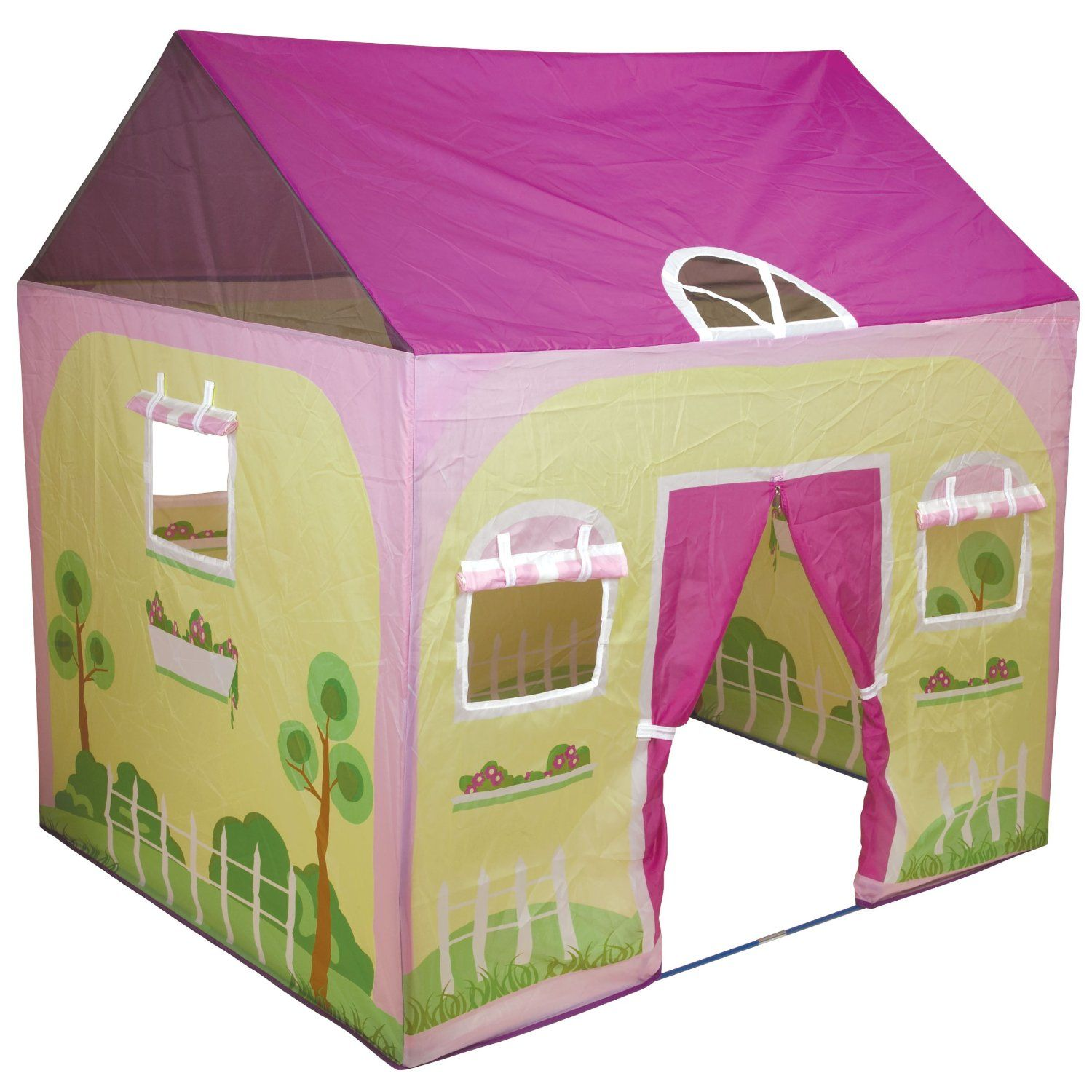 Cottage house kids play tent this is a welcome addition to for Tent cottage