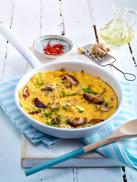 Asiatisches Pilz-Omelett Rezept | Pilz-omelett, Asiatisch und ...