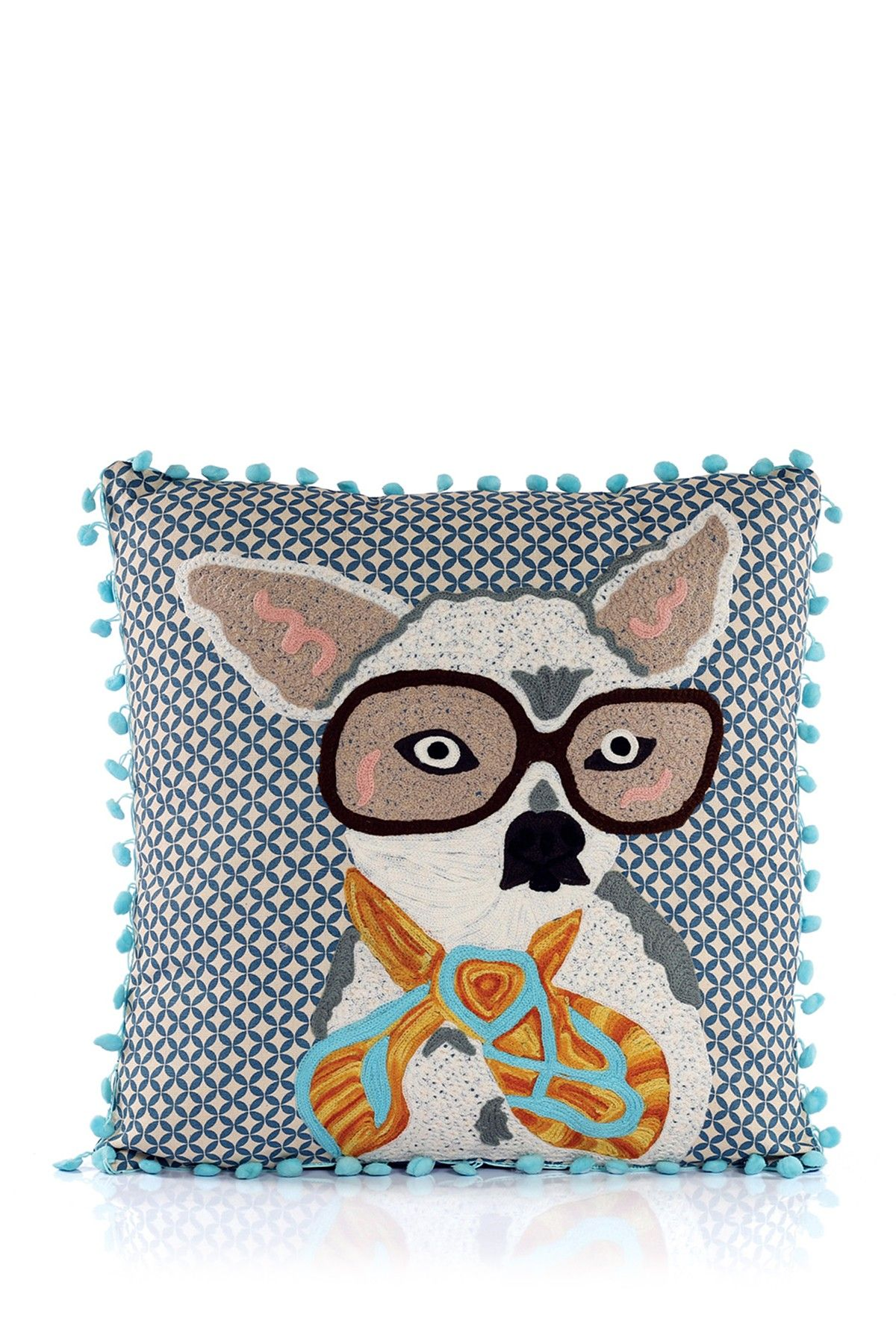 Bespectacled Dog Pillow By Karma Living On @HauteLook