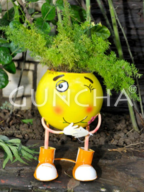 Wink smiley!! Gift this winky planter to your little one and inculcate the good habit of gardening in him or her from the very beginning.