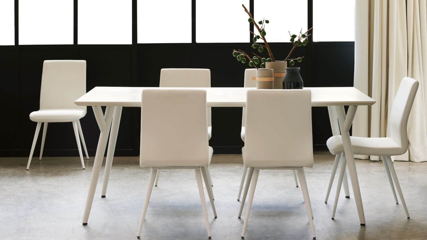 Cara Dining Table Domayne Area White