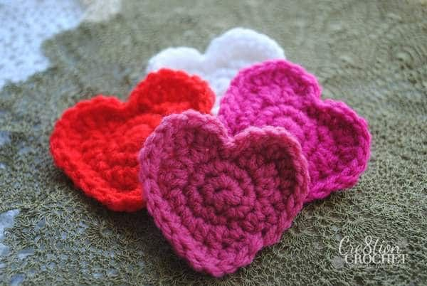 Super Easy Free Crochet Heart Pattern Craft Y Crochet Pinterest