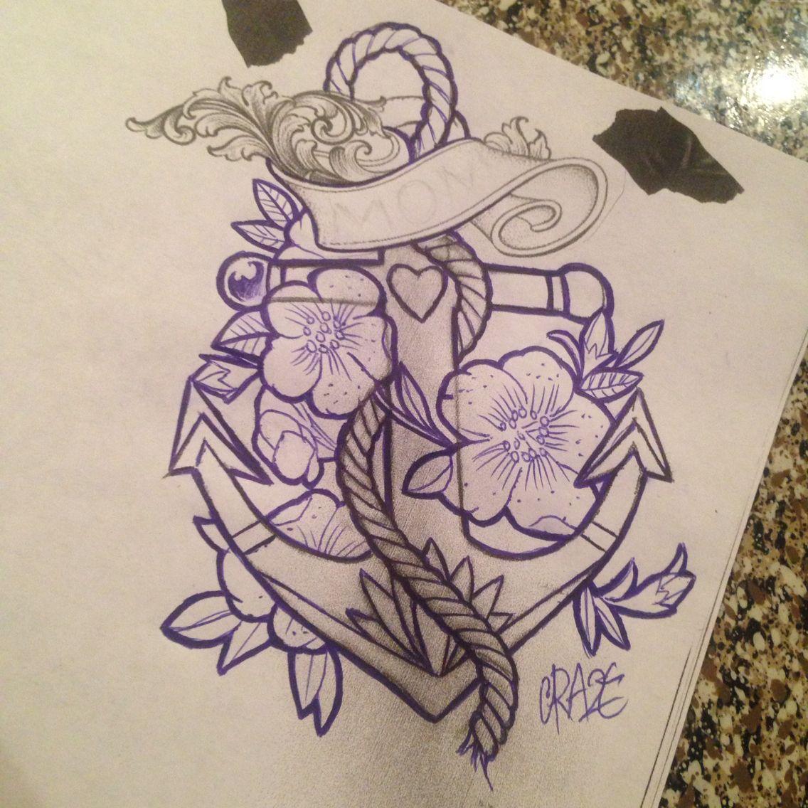 Mom anchor tattoo jasmine flowers banner crazetats sketches and mom anchor tattoo jasmine flowers banner crazetats izmirmasajfo Images