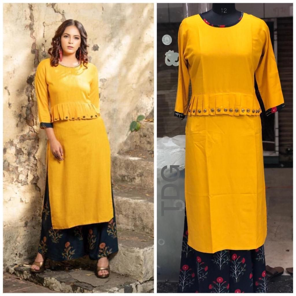 7b0bcb37ed Summer Special Pure Rayon cotton with styles cut And Design Kurtis and  plazzo | Ethnic Export