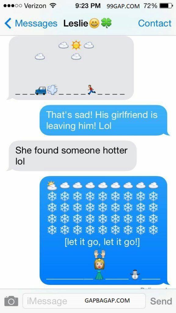 Hilarious Emoji Text Message Funny texts Funny emoji