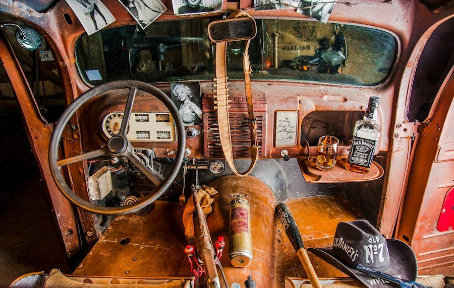 Rebel Custom Rods and Motorcycles Shop Truck ~ Click for Story and More Photos...
