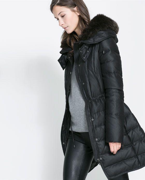 Semi Mujer LargoStyle Zara Anorak Plumífero 3A5jS4RLcq