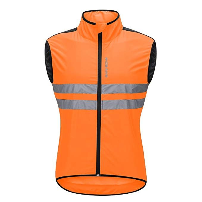 Amazon.com  WOSAWE Men s High Visibility Cycling Wind Vest Sleeveless  Reflective Bicycle Gilet  946d18519