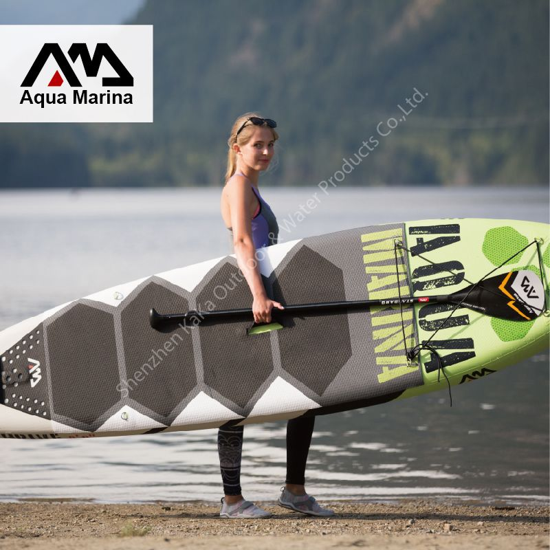 300 75 15cm Aqua Marina 10 Feet Thrive With Pedal Inflatable Sup Board Stand Up Paddle Board Surf Board Surfboard 2017 New Affiliate