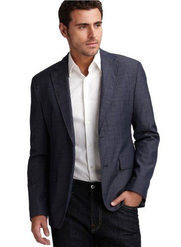 Donald J. Trump Jacket, Navy Basketweave Blazer - Blazers & Sport ...