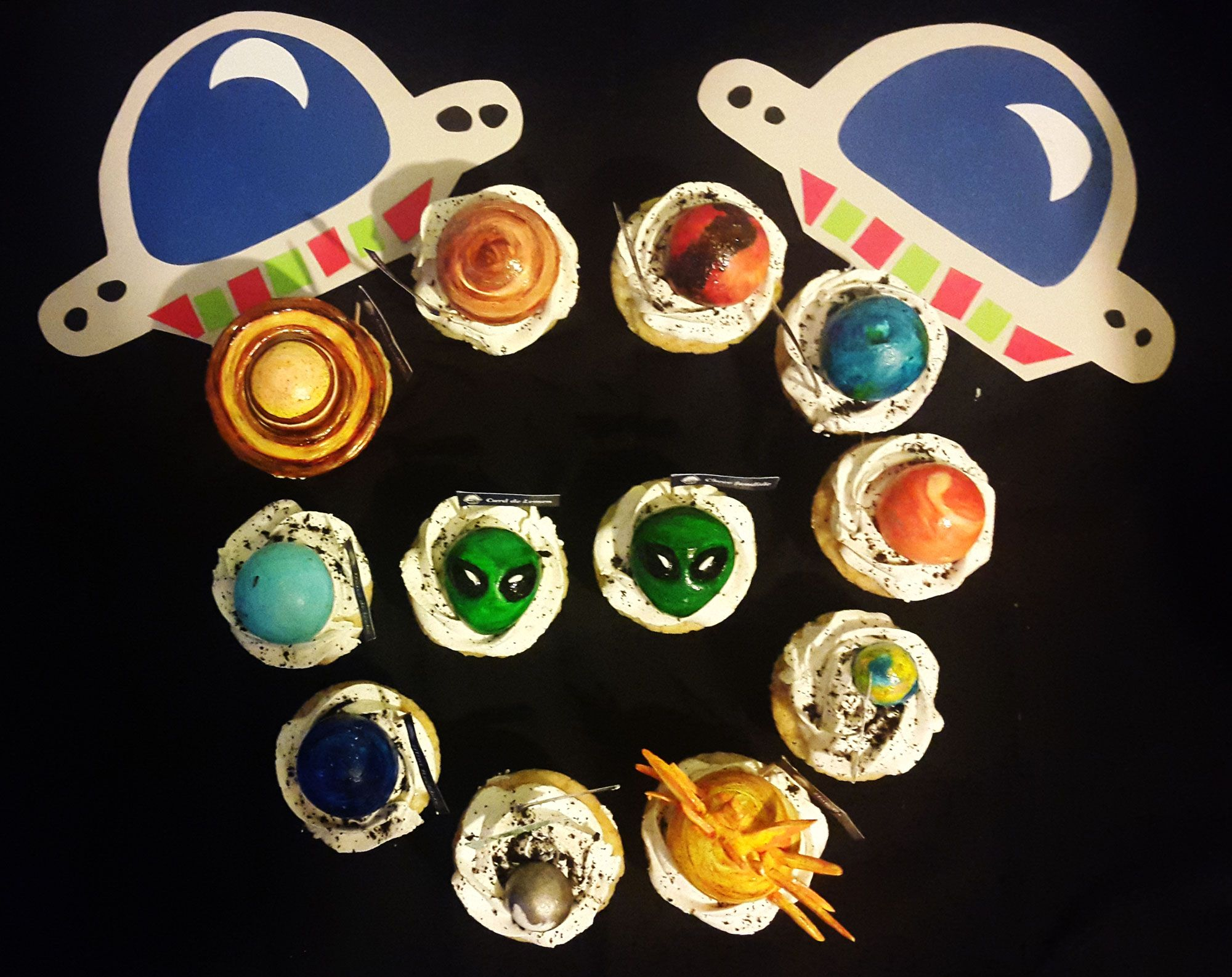 Solar System Muffins for Space Birthday