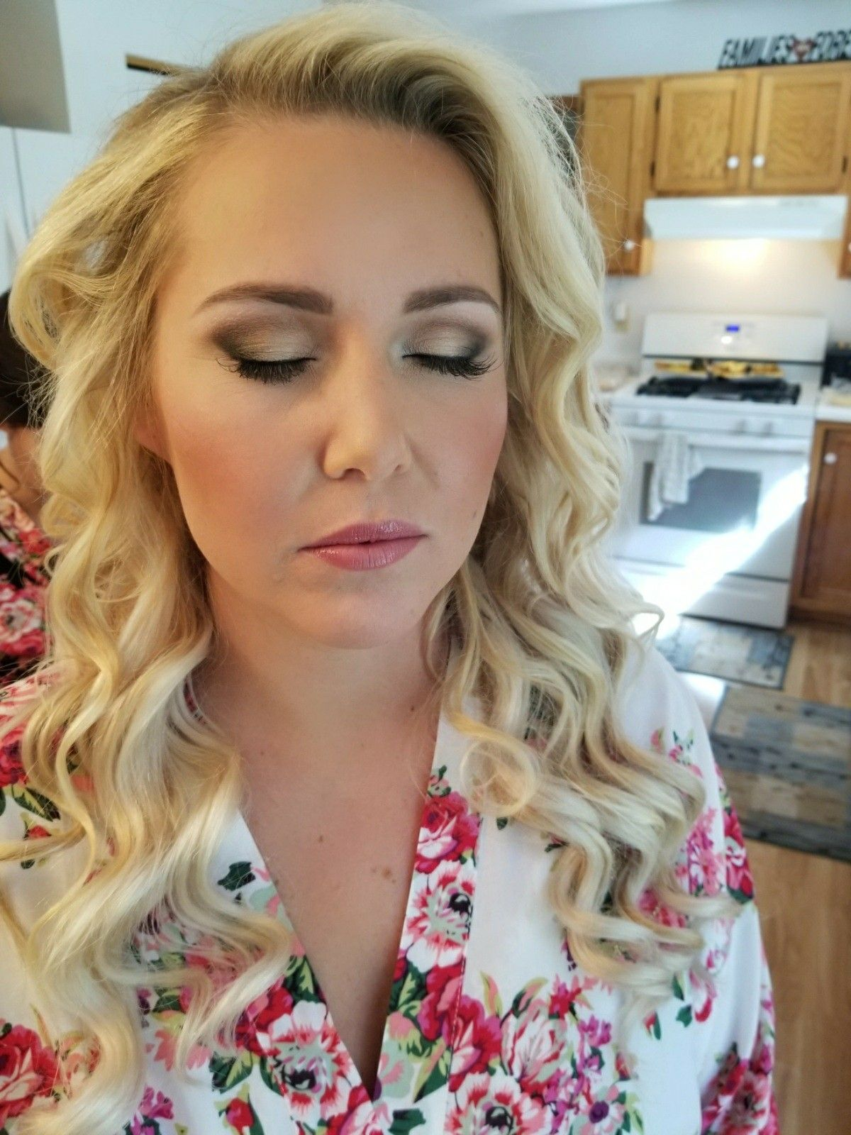 Bridal Makeup with a soft smokey eye. Dinair airbrush