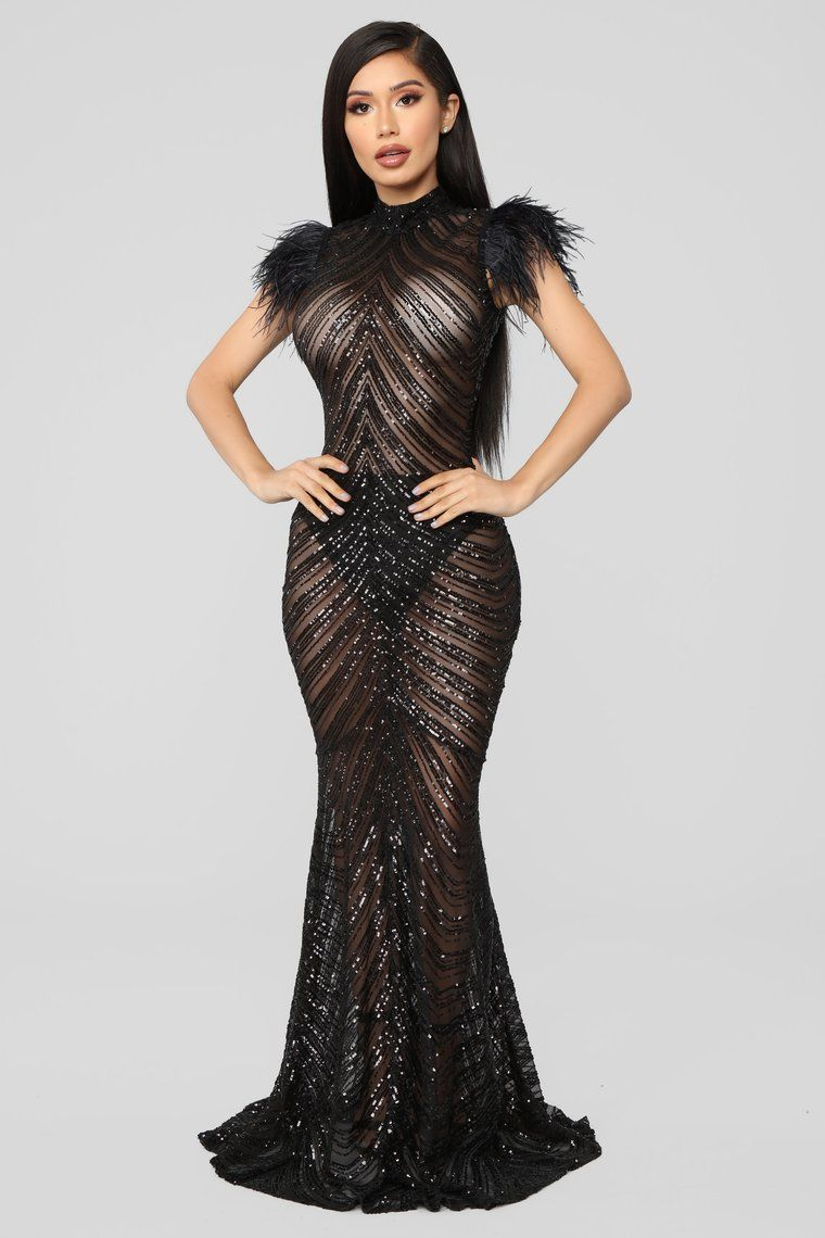 55bc8134454 Luxe Sequin Gown - Black in 2019