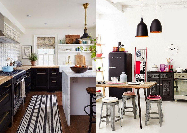 Best The Modern Bohemian Black Kitchen Bohemian Kitchen Decor 640 x 480