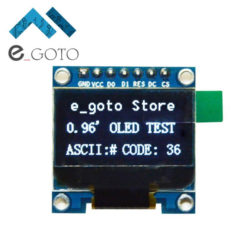 0 96 inch IIC SPI Seriële Wit Oled-scherm Module 128X64 I2C Lcd