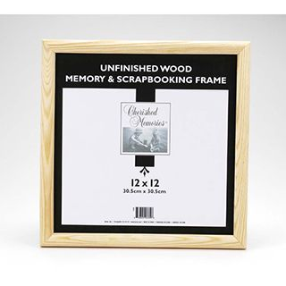 Unfinished Wood Scrapbooking Frame 12x12 Inches Frame Picture Frame Display Picture Frames